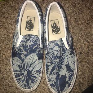 Classic Slip-On Vans (Aloha) Blue